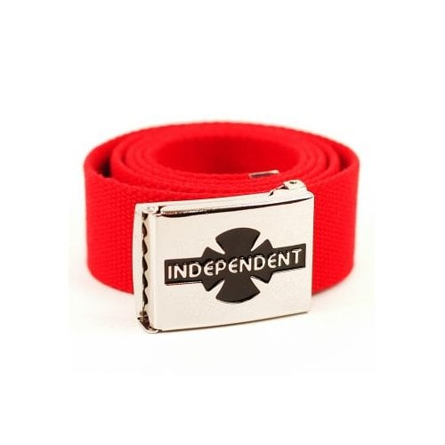Independent Belt: Clipped Cardinal Red RD
