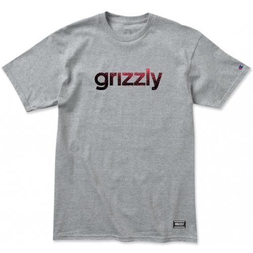 Grizzly T-Shirt: Lowercase Fadeaway GR