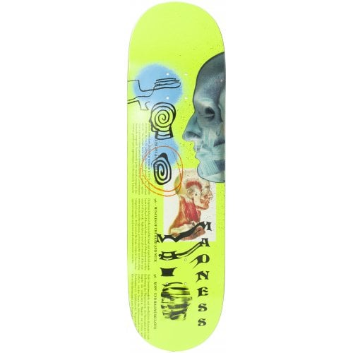 Madness Skateboarding Deck: Skinned R7 Neon Yellow 8.75x32.0