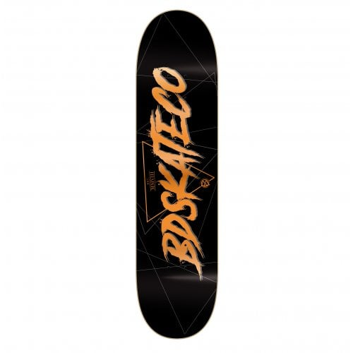 BDSkateCO Deck: Scrip Logo Black 8.0
