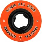 Ricta Wheels: All Star Orange/Black Chrome (52 mm)
