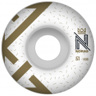 Nomad Wheels: OG Logo White (51 mm)