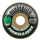 Spitfire Wheels: F4 101 Conical Green Print (52 mm)