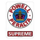"Powell Peralta Stickers: 12"" Supreme OG"