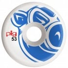 Pig Wheels: Pig Head Conical Blue (53mm)