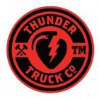 Thunder Trucks Co Sticker: Logo 45 RD/BK