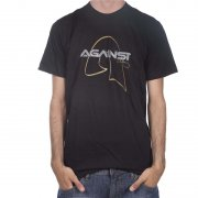 Against Clothing Tshirt: Gold BK, S