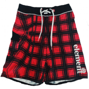 Element Boardshort: Checkered RD/BK