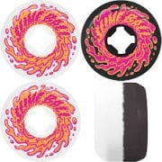 Santa Cruz Wheels: Double Take Vomit Mini White Black 97A (56 mm)