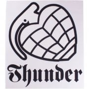 Thunder Trucks Co Sticker: Logo WH/BK