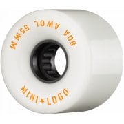 Mini Logo Skateboards Mini-Logo Skateboards Wheels: A.W.O.L White 80A (55mm)
