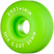 Mini Logo Skateboards Mini-Logo Skateboards Wheels: C-Cut Green 101A (53 mm)