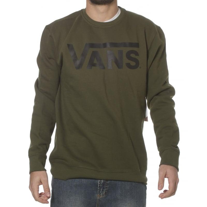 cf29c93680 Vans Sweatshirt: Classic Crew Rifle Green/Black GN | Buy Online ...
