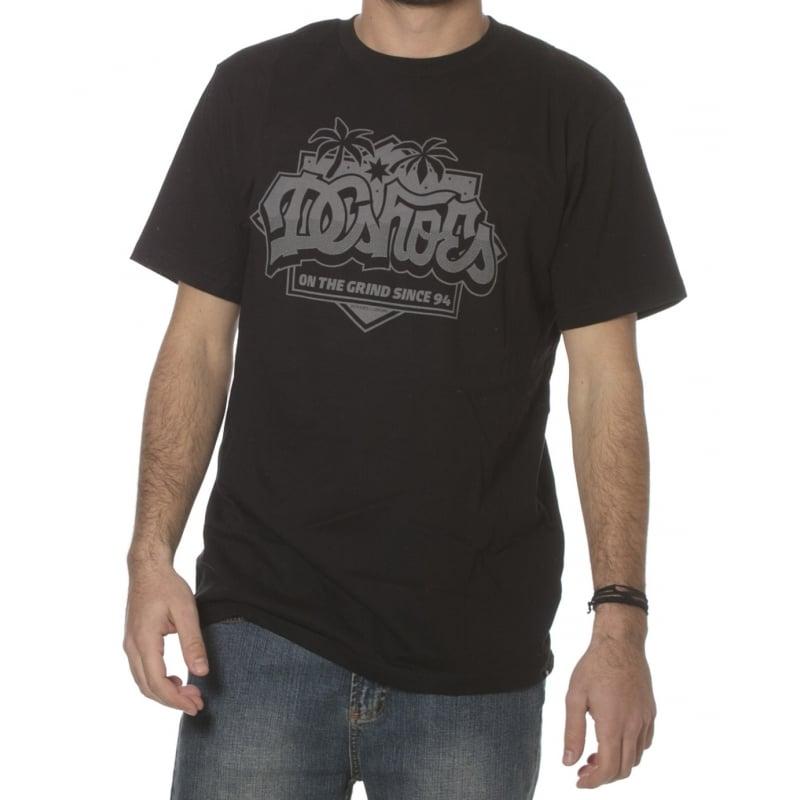 4ed52daa40e31d DC Shoes T-Shirt  123 Caliscript KVJ BK